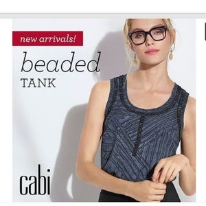 Cabi LIMITED ADDITION Beaded Tank EUC Size XL